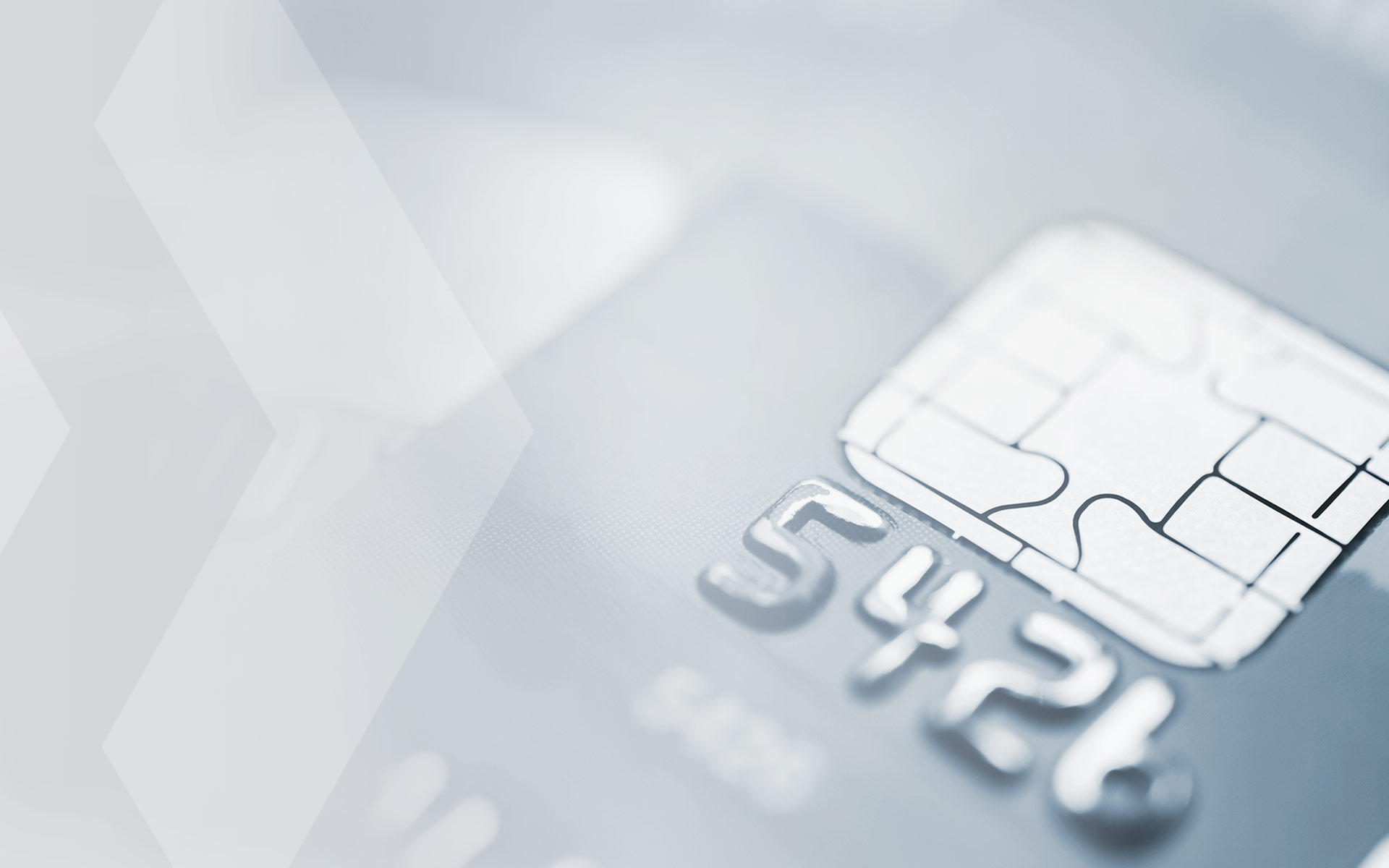 Payment card chip and number
