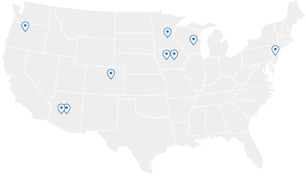 QRails Data Centers Map